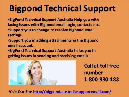 Want A Help For Bigpond Technical Support Email Settings Error