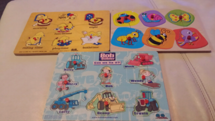 Toddler first puzzles x3
