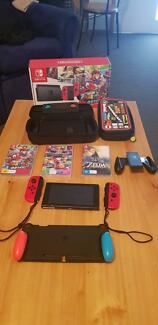 Nintendo Switch 7 Games &amp Gripcase