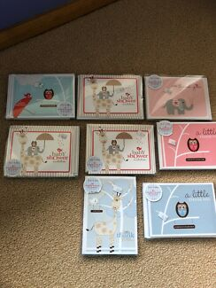 Baby shower invitations and Thank You cards, $5 each set.