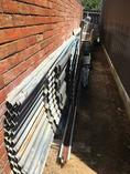 Roofing iron. Lot including 9xapprox 8.5m lengths.Used