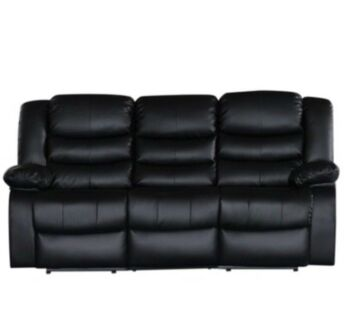 Three-seater recliner couch two recliners