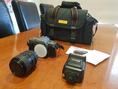 Pentax P30T 35mm SLR Astron 28-70mm lens Achiever DX300 flash