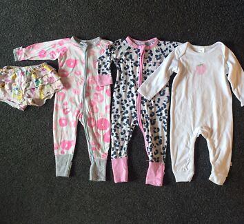 Girls 0/6-12 Months Bonds Zippy s and Target Onesie!