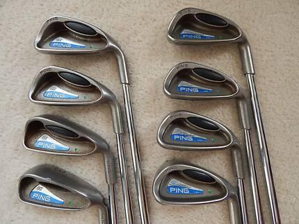 Ping G2 irons set, 3-PW, stiff Ping JZ Cushin steel shafts