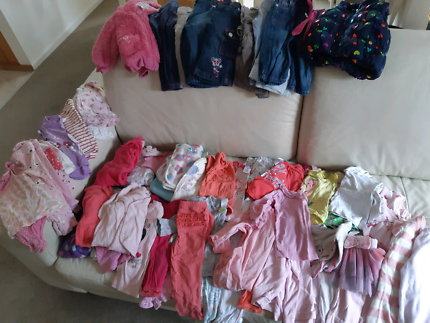 Baby Girl Heaps of Assorted Clothes