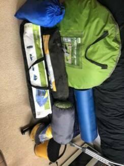 Camping gear: Tents, mattresses, pumps, sleeping bag