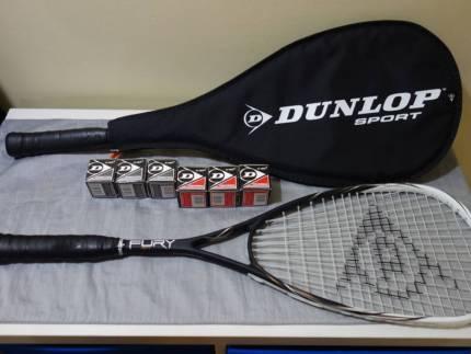 Dunlop Squash racquets and balls