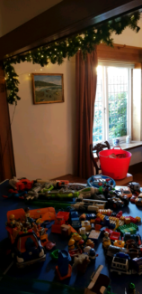 Various toys Toy Story, Diego, Nerf guns, Transformers, Duplo, B